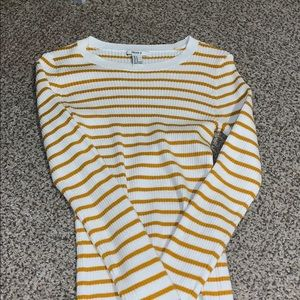 Forever 21 Yellow Striped Shirt